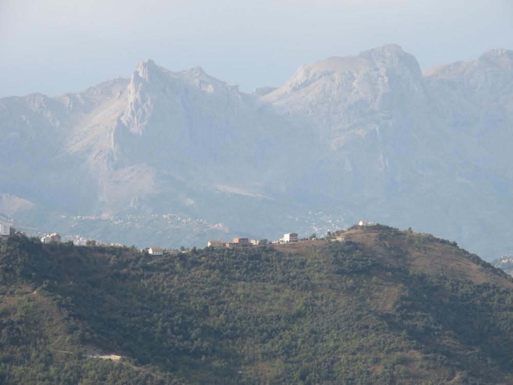 Rhinocéros: nm (gr rhis, rhinos: nez, et Keras: corne)/ vue depuis Aït el Hammam/Michelet/ Kabylie